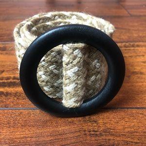 ZARA Two-Tone Woven Waist Belt